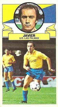 Liga 85-86. Javier (U.D. Las Palmas). Ediciones Este.