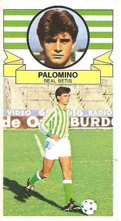 Liga 85-86. Palomino (Real Betis). Ediciones Este.