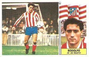 Liga 86-87. Fichaje Nº 19 Rodolfo (Atlético de Madrid). Ediciones Este.