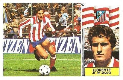 Liga 86-87. Llorente (Atlético de Madrid). Ediciones Este.