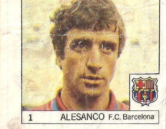Super Cromos Los Mejores del Mundo (1981). Alexanco (F.C. Barcelona). Chicle Fútbol Boomer.