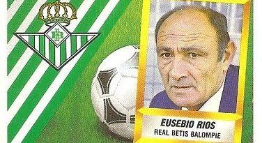 Liga 88-89. Eusebio Ríos (Real Betis). Ediciones Este.