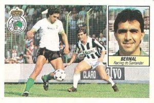 Liga 84-85. Bernal (Racing de Santander). Ediciones Este.