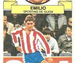 Liga 85-86. Emilio (Real Sporting de Gijón). Ediciones Este.