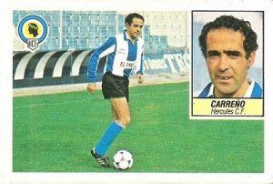 Liga 84-85. Carreño (Hércules C.F.). Ediciones Este.