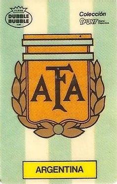 Mundial 1986. Escudo Argentina (Argentina). Ediciones Dubble Dubble.