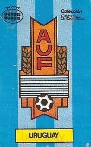 Mundial 1986. Escudo Uruguay (Uruguay). Ediciones Dubble Dubble.