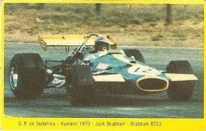 Grand Prix Ford 1982. Jack Brabham (Brabham). Editorial Danone.