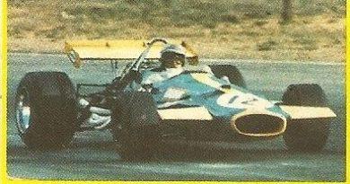 Grand Prix Ford 1982 . Jack Brabham (Brabham). (Editorial Danone).