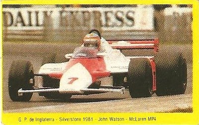 Grand Prix Ford 1982. John Watson (Williams). (Editorial Danone).