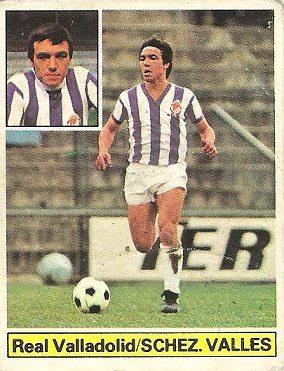 Liga 81-82. Sánchez Vallés (Real Valladolid). Ediciones Este.