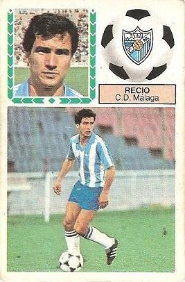 Liga 83-84. Recio (C.D. Málaga). Ediciones Este. Ediciones Este.