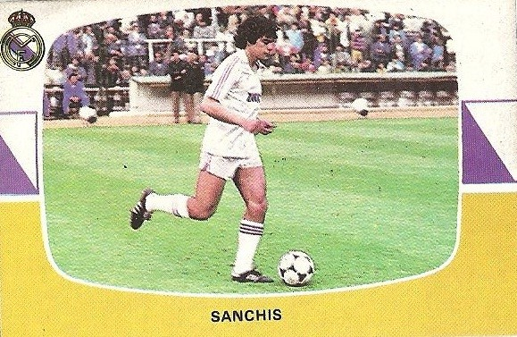 Liga 84-85. Sanchís (Real Madrid). Cromos Cano.
