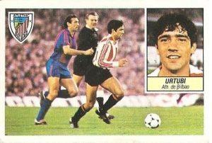 Liga 84-85. Urtubi (Ath. Bilbao). Ediciones Este.
