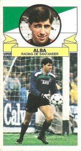 Liga 85-86. Alba (Racing de Santander). Ediciones Este.