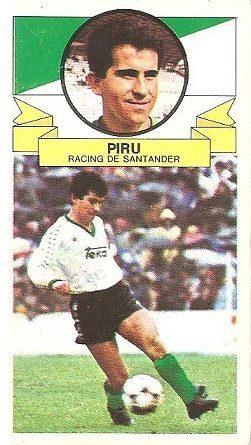 Liga 85-86. Piru (Racing de Santander). Ediciones Este.