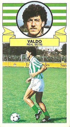 Liga 85-86. Valdo (Real Betis). Ediciones Este.