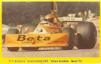 Grand Prix Ford 1982 . Vittorio Brambilla (March). (Editorial Danone).