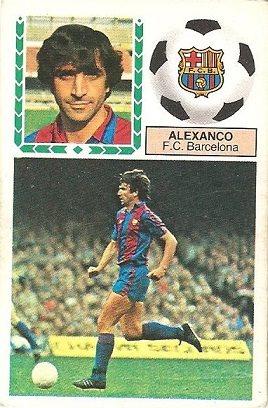 Liga 83-84. Alexanco (F.C. Barcelona). Ediciones Este.