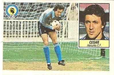 Liga 84-85. César (Hércules C.F.). Ediciones Este.