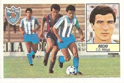 Liga 84-85. Recio (C.D. Málaga). Ediciones Este.