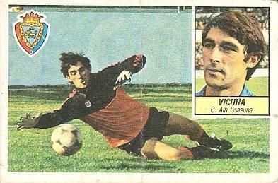 Liga 84-85. Vicuña (Club Atlético Osasuna). Ediciones Este.