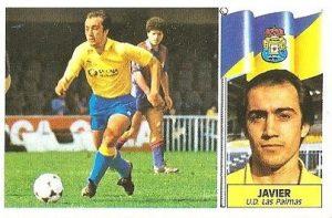 Liga 86-87. Javier (U.D. Las Palmas). Ediciones Este.