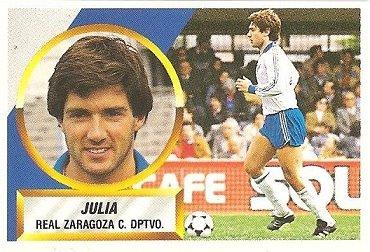 Liga 88-89. Juliá (Real Zaragoza). Ediciones Este.