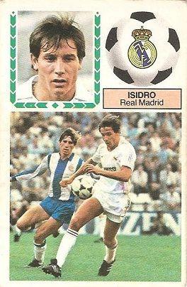 Liga 83-84. Isidro (Real Madrid). Ediciones Este.