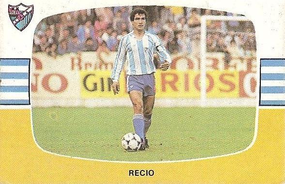 Liga 84-85. Recio (C.D. Málaga). Cromos Cano.