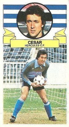 Liga 85-86. César (Hércules C.F.). Ediciones Este.