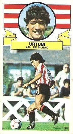 Liga 85-86. Urtubi (Ath. Bilbao). Ediciones Este.