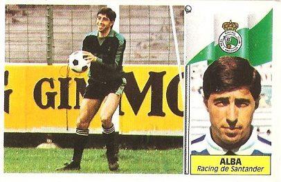 Liga 86-87. Alba (Racing de Santander). Ediciones Este.