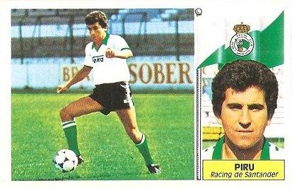 Liga 86-87. Piru (Racing de Santander). Ediciones Este.