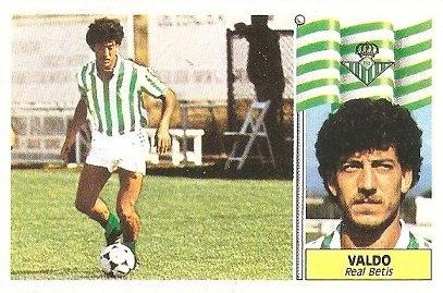Liga 86-87. Valdo (Real Betis). Ediciones Este.