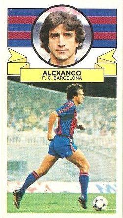 Liga 85-86. Alexanco (F.C. Barcelona). Ediciones Este.