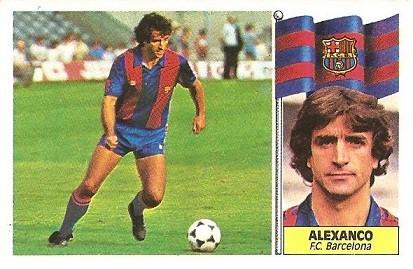 Liga 86-87. Alexanco ( F.C. Barcelona). Ediciones Este.