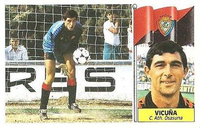 Liga 86-87. Vicuña (Club Atlético Osasuna). Ediciones Este.