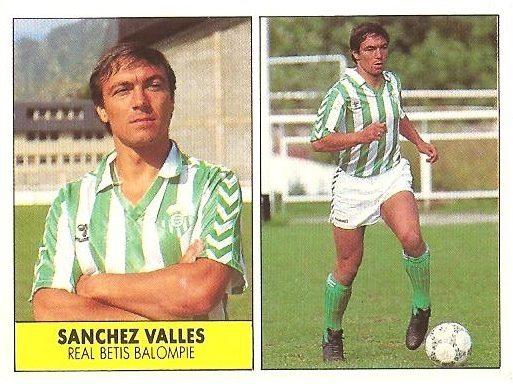 Liga 87-88. Sánchez Vallés (Real Betis). Ediciones Festival.