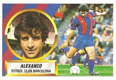 Liga 88-89. Alexanco (F.C. Barcelona). Ediciones Este.
