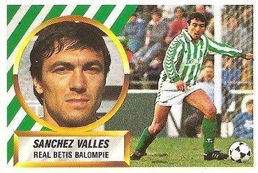 Liga 88-89. Sánchez Vallés (Real Betis). Ediciones Este.