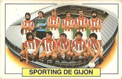 Liga 83-84. Alineación Sporting de Gijón (Sporting de Gijón). Ediciones Este.