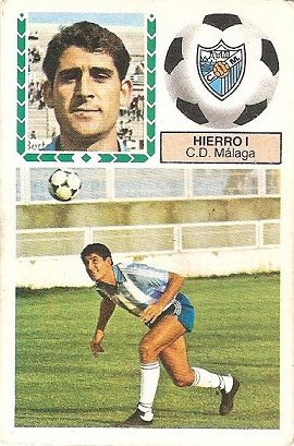 Liga 83-84. Hierro I (C.D. Málaga). Ediciones Este.