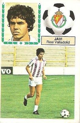 Liga 83-84. Javi (Real Valladolid). Ediciones Este.