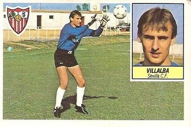 Liga 84-85. Villalba (Sevilla C.F.). Ediciones Este.
