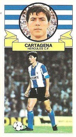 Liga 85-86. Cartagena (Hércules C.F.). Ediciones Este.