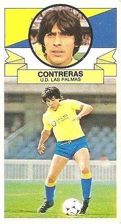 Liga 85-86. Contreras (U.D. Las Palmas). Ediciones Este.
