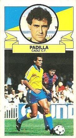 Liga 85-86. Padilla (Cádiz C.F.). Ediciones Este.