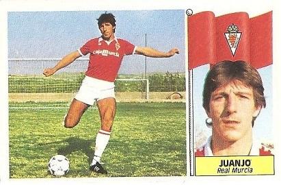 Liga 86-87. Juanjo (Real Murcia). Ediciones Este.