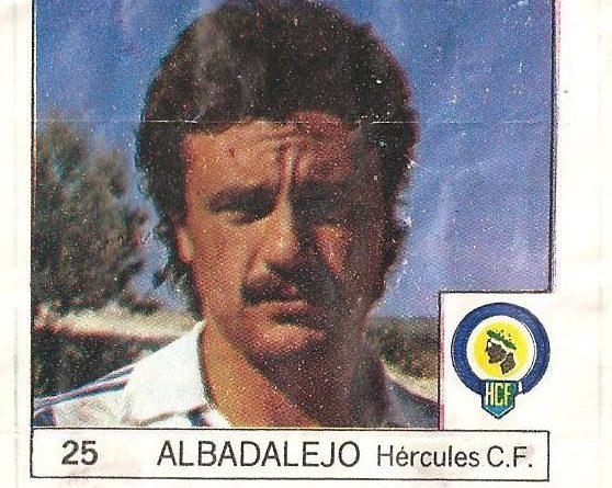 Super Cromos Los Mejores del Mundo (1981). Albalalejo (Hércules C.F.). Chicle Fútbol Boomer.